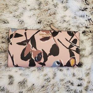 NWT Kate Spade large slim bifold wallet